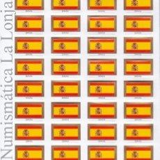 Material numismático: PARDO CARTULINA IMPRESA COLOR CON 32 BANDERAS ESPAÑOLAS MOD. 181800. Lote 289393203
