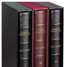 Material numismático: ÁLBUM PARDO - JUAN CARLOS I - TOMO I - PESETAS 1975 - 1987 SIN HOJAS COLOR BURDEOS MOD. 140045. Lote 289409108