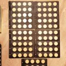 Material numismático: LOTE DE 5 HOJAS PARDO CAPSULA PARA 2 €. Lote 289506943