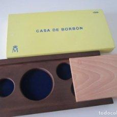 Material numismático: ESPAÑA * CAJA VACIA PARA COLECCION COMPLETA ORO Y PLATA * CASA DE BORBON * 1999. Lote 294084958