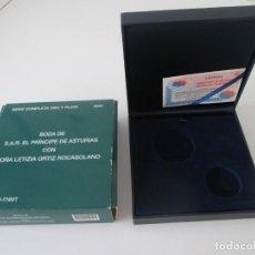 Material numismático: ESPAÑA * CAJA VACIA PARA COLECCION ORO Y PLATA * BODA DE LOS PRINCIPES DE ASTURIAS* 2004. Lote 294087598