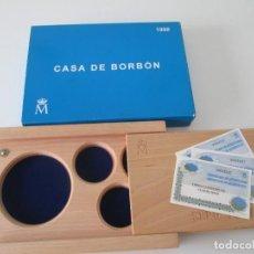 Material numismático: ESPAÑA * CAJA VACIA PARA COLECCION PLATA * CASA DE BORBON * 1998. Lote 294088738
