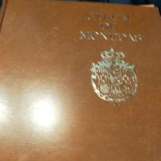 Material numismático: ÁLBUM DE MONEDAS CON 16 HOJAS Y CAJETÍN BUEN ESTADO. Lote 294441868