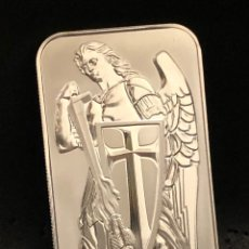 Material numismático: LINGOTE ONZA DE PLATA PURA - SAN MIGUEL ARCÁNGEL - SCOTTSDALE. Lote 294460318