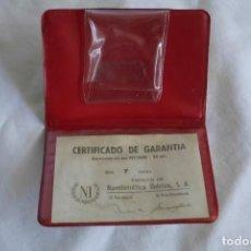 Material numismático: FUNDA PARA MONEDA DE ORO NUMISMÁTICA IBÉRICA. Lote 295356268