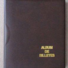 """Material numismático: ALBUM PARA BILLETES BEUMER """"BBB"""" TAMAÑO FOLIO 4 ANILLAS CON CAJETIN - MARRON - INCLUYE 10 HOJAS. Lote 296595658"""