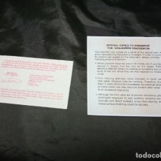 Material numismático: CERTIFICADO FNMT CINCUENTIN ESTILOS ARQUITECTONICOS Y RECOMENDACIONES PARA SU CONSERVACION. Lote 296615558