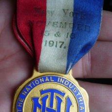Medallas condecorativas: MEDALLA NORTEAMERICANA DE TRAFICO 1917. Lote 12658629