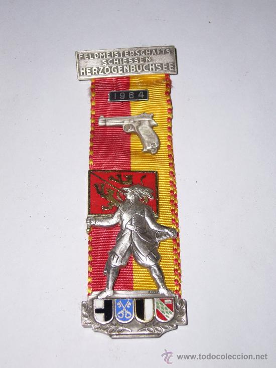 MEDALLA PREMIO DE TIRO SUIZO AÑO 1964 (Numismática - Medallería - Condecoraciones)