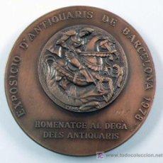Medallas condecorativas: EXPOSICIÓ D'ANTIQUARIS DE BARCELONA, 197. HOMENATGE AL DEGÀ DELS ANTIQUARIS. 1978. 6 CM DIÁMETRO. Lote 15229517