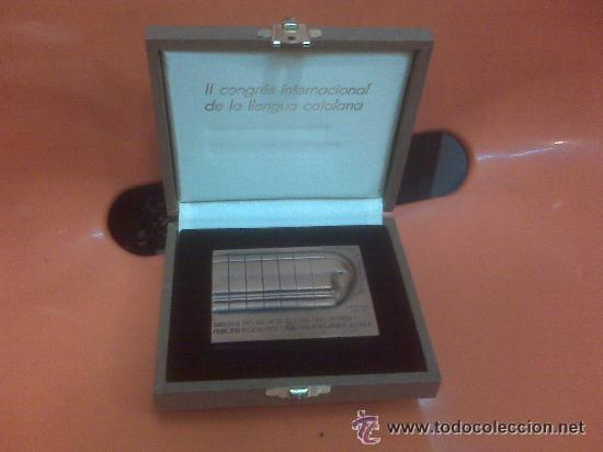 Medallas condecorativas: LINGOTE - PLACA CONMEMORATIVA 385 GRS. DE BRONCE ANDORRA EN ESTUCHE NUEVO 1986 OBRA DE SUBIRACHS - Foto 3 - 137937264