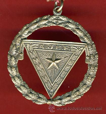 Medallas condecorativas: MASONERIA , OBJETO MASON CON MEDALLA DE LOGIA , ORIGINAL, CUBA, VER FOTO ADICIONAL - Foto 2 - 37919376