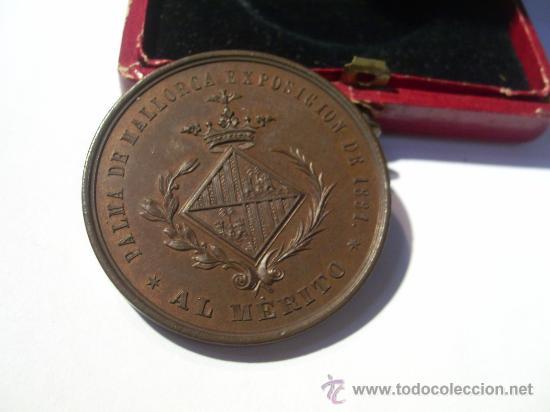 Medallas condecorativas: Palma de Mallorca Exposición de 1881. Al Mérito. Medalla de Bronce. Agricultura. Industria. Bellas - Foto 2 - 26486505