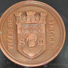 Medallas condecorativas: VILLE DE LIMOGES FRANCIA MEDALLA LAGRANGE ESCUELA DE BELLAS ARTES 1880. Lote 26661034
