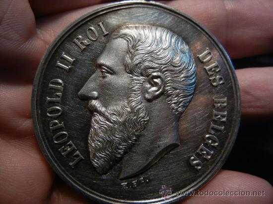 Medallas condecorativas: Medalla Belga de la Academia de Bellas Artes. Plata. 1893. - Foto 2 - 31912565