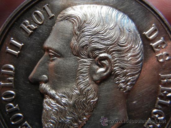 Medallas condecorativas: Medalla Belga de la Academia de Bellas Artes. Plata. 1893. - Foto 4 - 31912565