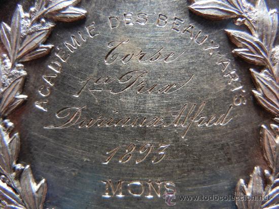 Medallas condecorativas: Medalla Belga de la Academia de Bellas Artes. Plata. 1893. - Foto 6 - 31912565