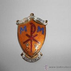 Medallas condecorativas: ANTIGUA MEDALLA ESCOLAR GRAN FORMATO, CON LA INSCRIPCIÓN: COLEGIO MONTE MARÍA, GUATEMALA. Lote 36021221