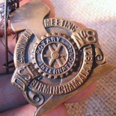 Medallas condecorativas: MEDALLA CONDECORACION ROTARY INTERNATIONAL ..BIRMINGHAM 1921. Lote 39532744