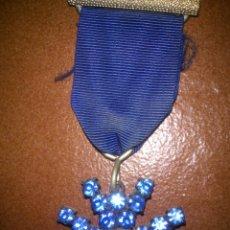 Medallas condecorativas: ANTIGUA MEDALLA CON INCRUSTRACIONES ORIGINAL. Lote 41295034