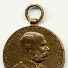 Medallas condecorativas: CONDECORACIÓN DE FRANCISCO JOSE I EMPERADOR DE AUSTRIA. 50 ANIVERSARIO DE SU REINADO. 35 MM DIAMETRO. Lote 44030531
