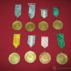 Medallas condecorativas: LOTE DE 8 MEDALLAS DE PREMIO COLEGIO - HOGAR DE SAN FERNANDO SEVILLA. Lote 45022892
