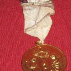 Medallas condecorativas: MEDALLA DORADA DEL CONGRESO EUCARISTICO DE ALMAGRO - CIUDAD REAL - ABRIL MAYO 1958. Lote 45122764
