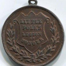 Medallas condecorativas: INGLATERRA. MEDALLA LEGIÓN DE HONOR PARA GENTE PEQUEÑA. DIÁMETRO 32 MM. Lote 45333264