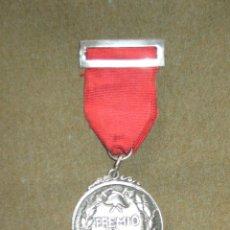 Medallas condecorativas: MEDALLA CATEGORIA DE PLATA CONDECORACION - BOMBEROS - SEVILLA - PREMIO AL VALOR - AÑOS 60/70. Lote 45549002