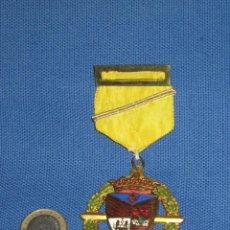 Medallas condecorativas: MEDALLA LAUREADA ESMALTADA CON PASADOR AMARILLO CON BARRITA - COLEGIO PORTACELI - SEVILLA. Lote 46261916