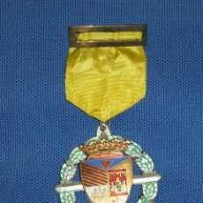Medallas condecorativas: MEDALLA LAUREADA ESMALTADA PLATEADA CON PASADOR AMARILLO - COLEGIO PORTACELI - SEVILLA. Lote 46262034