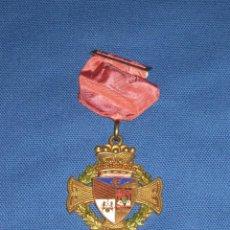 Medallas condecorativas: MEDALLA LAUREADA ESMALTADA CON PASADOR ROJO - COLEGIO PORTACELI - SEVILLA. Lote 46337095