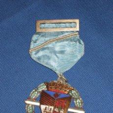 Medallas condecorativas: MEDALLA LAUREADA ESMALTADA CON PASADOR AZUL CON BARRITA CRUZADA - COLEGIO PORTACELI - SEVILLA. Lote 46389545