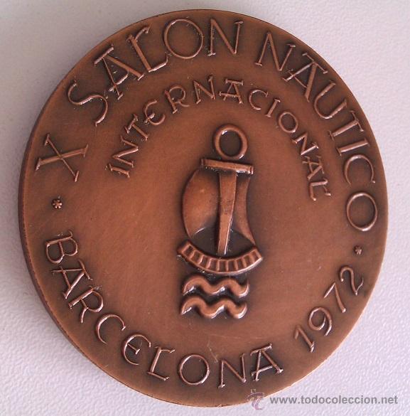 Medallas condecorativas: LOTE DE MEDALLAS SALON NAUTICO INTERNACIONAL BARCELONA 1972 Y 1973 COBRE IDEAL COMENZAR COLECCION - Foto 2 - 46868717