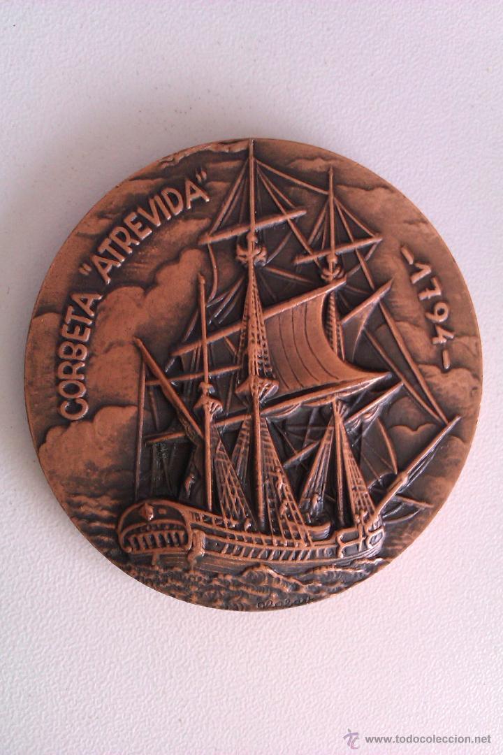 Medallas condecorativas: LOTE DE MEDALLAS SALON NAUTICO INTERNACIONAL BARCELONA 1972 Y 1973 COBRE IDEAL COMENZAR COLECCION - Foto 3 - 46868717