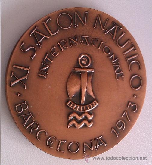 Medallas condecorativas: LOTE DE MEDALLAS SALON NAUTICO INTERNACIONAL BARCELONA 1972 Y 1973 COBRE IDEAL COMENZAR COLECCION - Foto 5 - 46868717