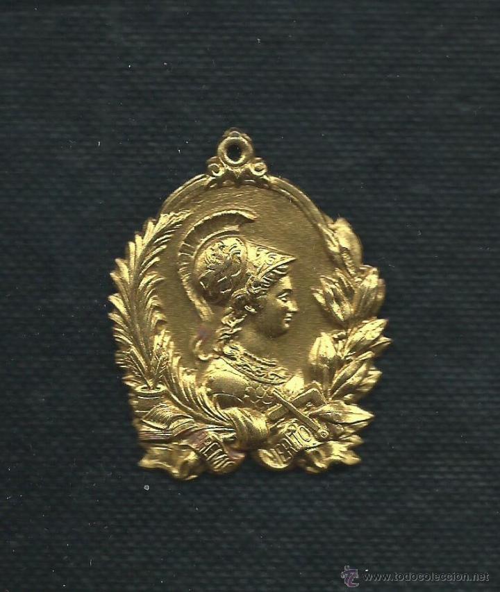 MEDALLA ESCOLAR. PREMIO AL MERITO. 1910? (Numismática - Medallería - Condecoraciones)