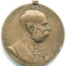 Medallas condecorativas: CONDECORACIÓN DE FRANCISCO JOSE I EMPERADOR DE AUSTRIA. 50 ANIVERSARIO DE SU REINADO. 35 MM . Lote 48004799