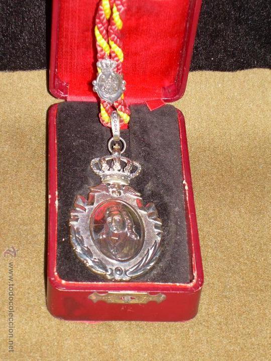 MEDALLA DE LA REAL ACADEMIA DE BUENAS LETRAS DE SEVILLA - ESTUCHE ORIGINAL - PLATA (Numismática - Medallería - Condecoraciones)
