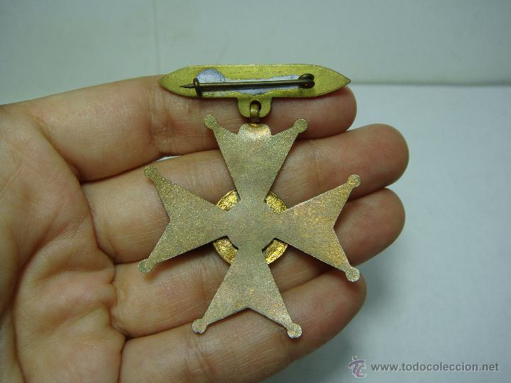 Medallas condecorativas: Antigua Medalla. Premio a la Aplicación. Colegio San Agustín - Cadiz. Con esmaltes. - Foto 2 - 112969031