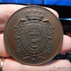 Medallas condecorativas: MEDALLA SOCIEDAD DE SOCORROS. EL GRAN PENSAMIENTO. ESTIMULO AL TRABAJO Y PREMIO A LA VIRTUD. 1886. Lote 49959341