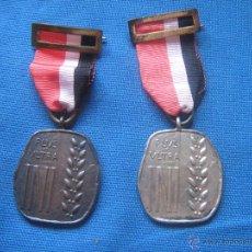 Medallas condecorativas: DOS MEDALLAS DEL PLUS ULTRA - UNA CATEGORIA DE PLATA Y OTRA BRONCE - MEDALLA . Lote 50779316