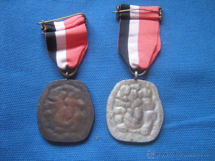 Medallas condecorativas: DOS MEDALLAS DEL PLUS ULTRA - UNA CATEGORIA DE PLATA Y OTRA BRONCE - MEDALLA - Foto 2 - 50779316