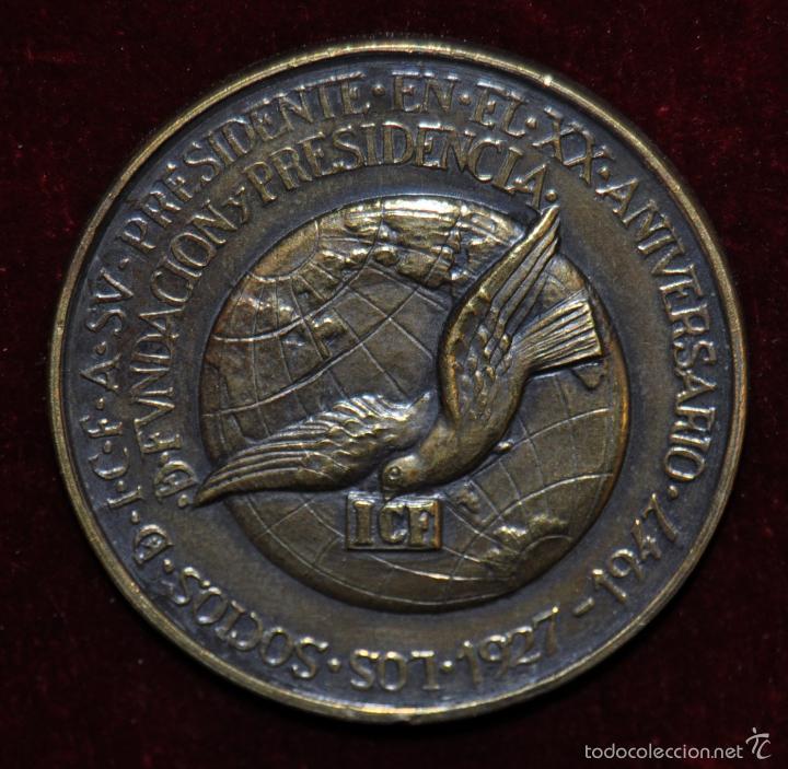 MEDALLA EN BRONCE DE ENRIQUE PUIGFERRAT QUERALT. ICF. AÑO 1947 (Numismática - Medallería - Condecoraciones)
