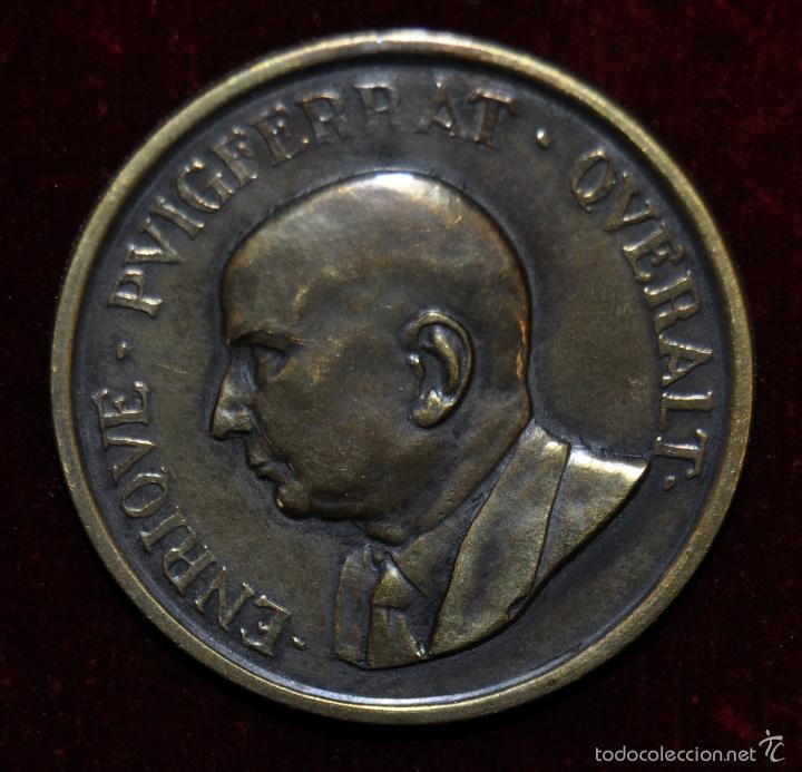 Medallas condecorativas: MEDALLA EN BRONCE DE ENRIQUE PUIGFERRAT QUERALT. ICF. AÑO 1947 - Foto 2 - 56118480