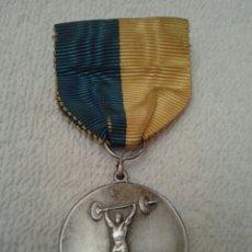 Medallas condecorativas: SUECIA ANTIGUA Y RARA MEDALLA PLATA HALTEROFILIA. Lote 56303368