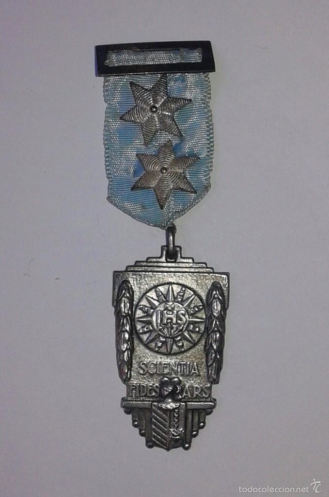 5 MEDALLAS AL MÉRITO ESCOLAR. COLEGIO EL SALVADOR, ZARAGOZA. 1954, 1955,1956 (Numismática - Medallería - Condecoraciones)