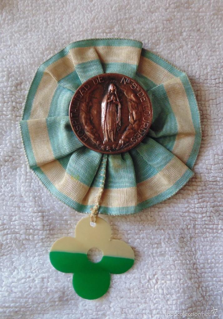 MEDALLA HOSPITALIDAD DE NUESTRA SEÑORA DE LOURDES (Numismática - Medallería - Condecoraciones)