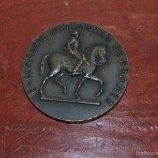 Medallas condecorativas: MEDALLA GENDARMERÍA NACIONAL DE FRANCIA - POR LA PATRIA, EL HONOR Y EL DERECHO - RISPAL - AÑOS 40. Lote 57915742