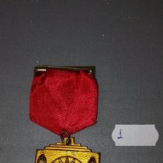 Medallas condecorativas: 918- MEDALLA ESCOLAR DE PREMIO CENTRO CULTURAL CATOLICO -LA CORUÑA IHS. SCIENTIA FIDES ARS 1938 Nº 1. Lote 58013745